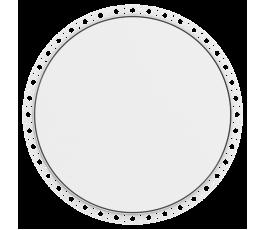 Circular Non Fire Rated, Beaded Frame, Metal Door, & Twist Lock
